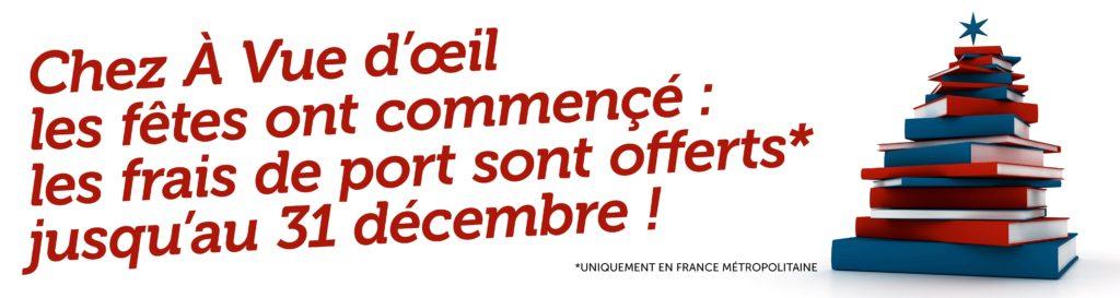 Bandeau promotion Frais de port offerts pour Noël.